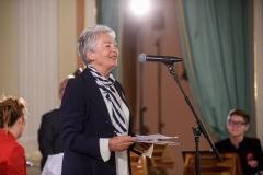 Małgorzata Komorowska - przewodnicząca Kapituły Muzycznej, 23 września 2019, Zamek Królewski w Warszawie, fot. Tomasz Urbanek/East News