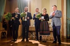 Janusz Wawrowski, Leszek Lorent, Ludwik Rakowski, Wioleta Fijałkowska i Adam Struzik, 23 września 2019, Zamek Królewski w Warszawie, fot. Tomasz Urbanek/East News
