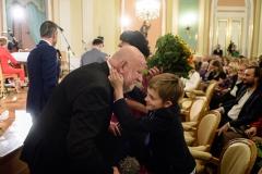 Adam Myjak z wnukami, 23 września 2019, Zamek Królewski w Warszawie, fot. Tomasz Urbanek/East News