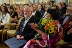 Adam Myjak z żoną, 23 września 2019, Zamek Królewski w Warszawie, fot. Tomasz Urbanek/East News