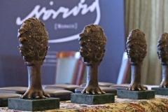 Statuetki Nagrody im. Cypriana Kamila Norwida /fot. justyna Michniewicz/