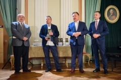 9. Od lewej: Krzysztof Masłoń, Wojciech Chmoelewski, Adam Struzik i Ludwik Rakowski