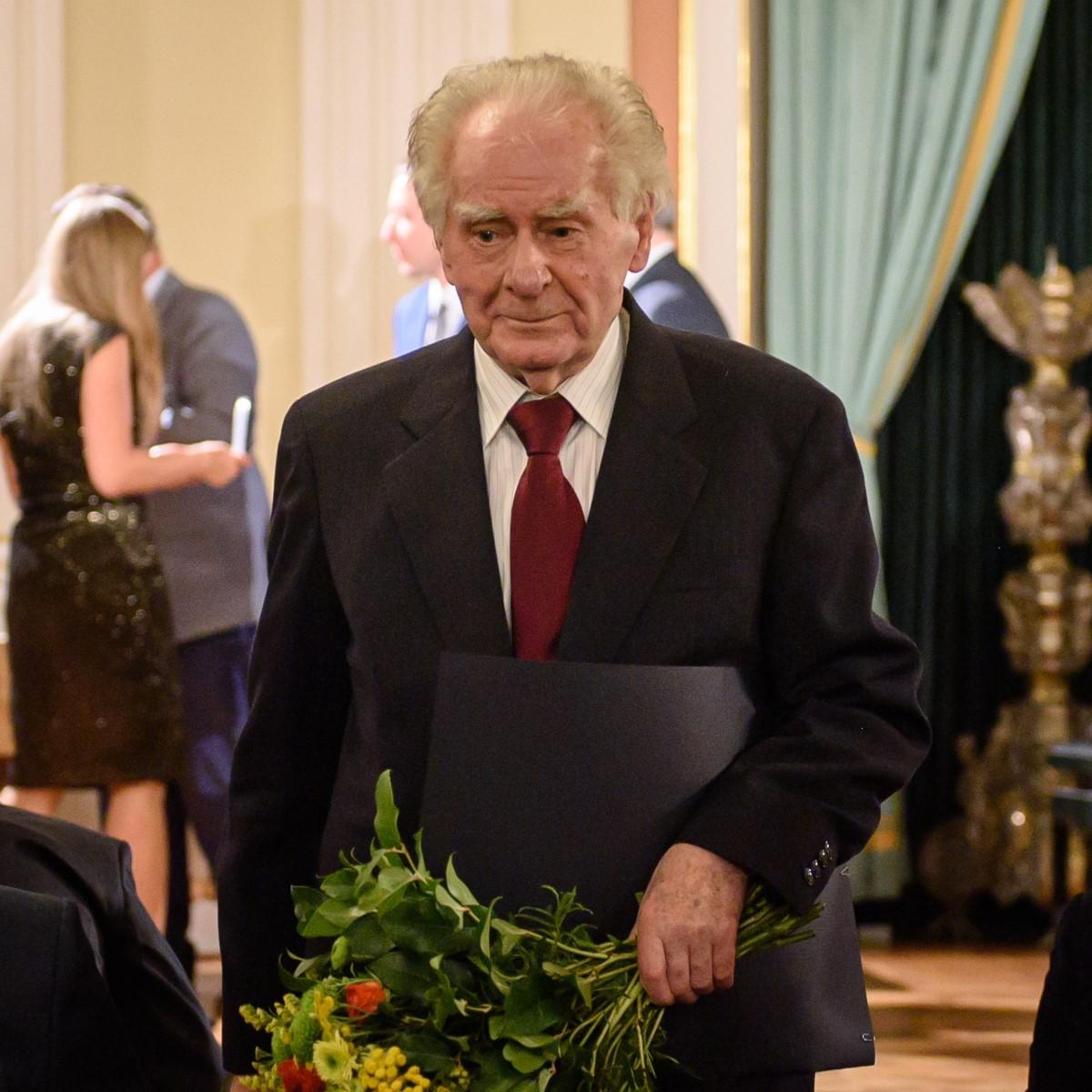Wiesław Myśliwski podczas gawi wręczenia nagród