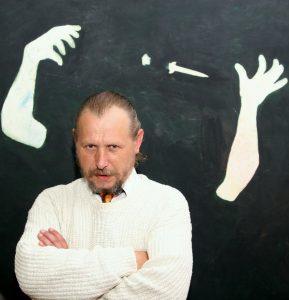 08.09.2008, Warszawa, Galeria Zacheta - Wlodzimierz Pawlak - Autoportret w powidokach na zdjeciu: Wlodzimierz Pawlak