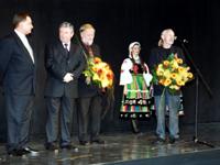Adam Myjak i Antoni Pastwa laureaci w kategorii sztuki plastyczne 2002nagrody norwida 2002