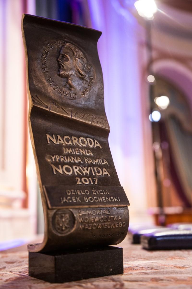 Statuetka Nagrody im. Cypriana Kamila Norwida 2017