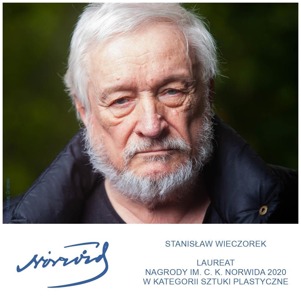 inforgrafika ze zdjęciem laureata Stanisława Wieczorka
